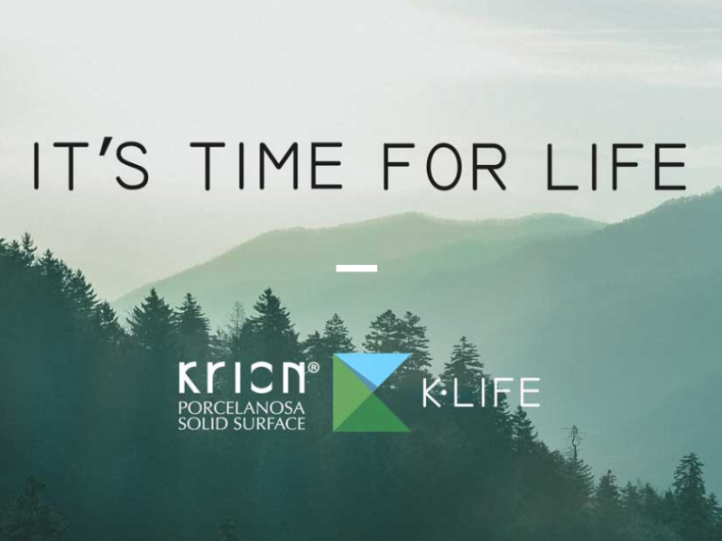 Krion® K·Life tiene la capacidad de descontaminar el aire