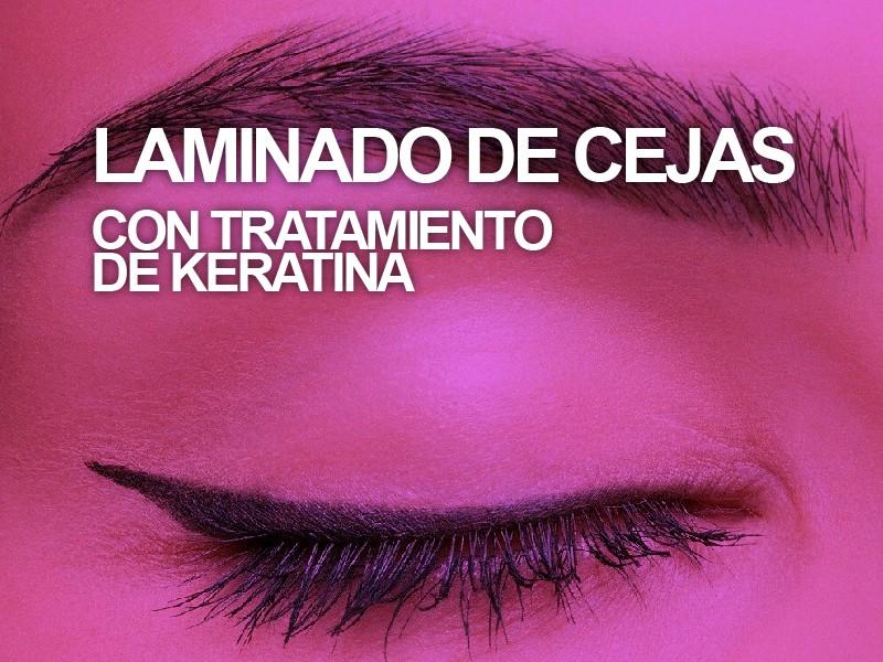 Laminado de cejas + Tratamiento de nutrición con keratina + Sombreado temporal de cejas